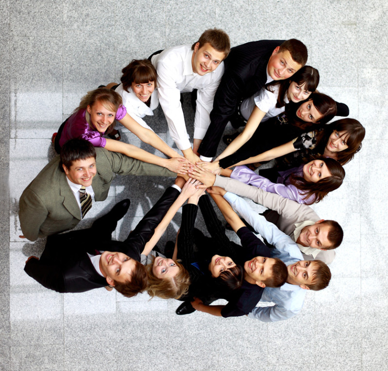 Top-view-of-business-people